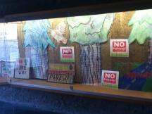 Parks Not Parkway Display at Bata Library
