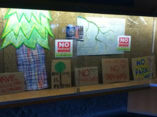 Parks Not Parkway Display at Bata Library
